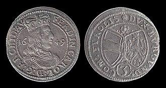 Ferdinand Charles, Archduke of Austria - Image: Ferdinand Charles of Further Austria Coin