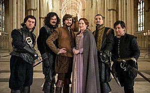 "Bill (2015 film) - The starring cast in York Minster. L-R: Laurence Rickard, Simon Farnaby, Mathew Baynton (as ""Bill"" Shakespeare), Martha Howe-Douglas, Ben Willbond and Jim Howick"