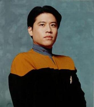 Harry Kim (Star Trek) - Promotional image of Garrett Wang as Harry Kim in Star Trek: Voyager