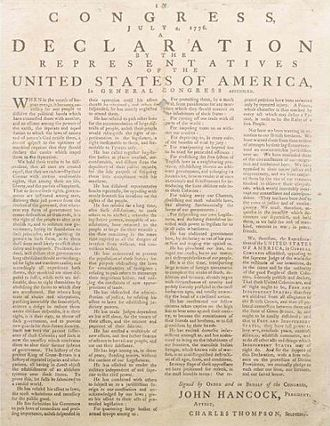 Physical history of the United States Declaration of Independence - A rare four-column broadside at Lauinger Library, Georgetown University.