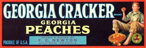 Georgia cracker - Georgia Cracker label depicting a boy with peaches
