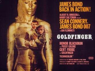 Goldfinger (film) - British cinema poster for Goldfinger, designed by Robert Brownjohn