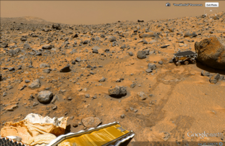 A picture of Mars' landscape. - Google Earth