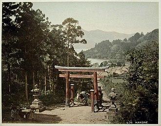Hakone - Image: Hakone, hand colored print 1860 1900