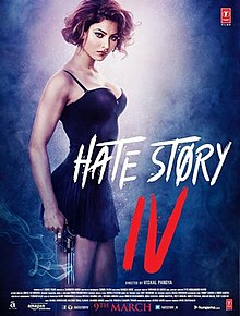 The poster features Urvashi Rautela in a black short night gown. The film title appears at bottom-right.