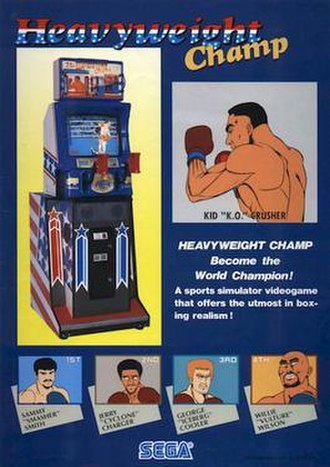 Heavyweight Champ - Arcade flyer for the 1987 game