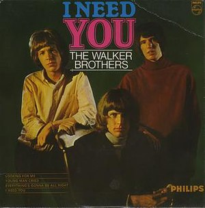 I Need You (The Walker Brothers EP) - Image: I Need You Sleeve