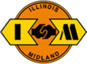 Illinois and Midland Railroad - Image: Illinois and Midland Railroad logo