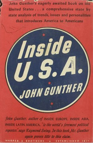 Inside U.S.A. (book) - Cover of the first edition (1947)