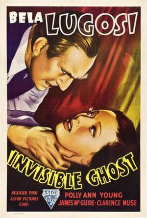 "Invisible Ghost - A promotional film poster for ""Invisible Ghost."""