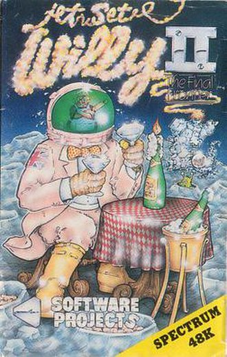 Jet Set Willy II - Cassette cover from ZX Spectrum version