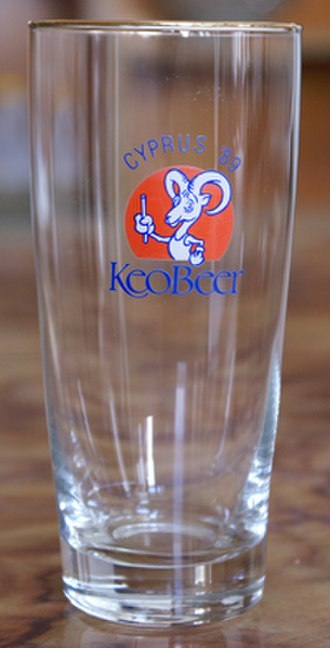 1989 Games of the Small States of Europe - Sponsored glass.