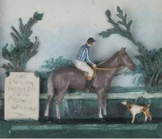 Prince Leopold (horse) - Circa 1816 wax diorama of Prince Leopold by an unknown artist