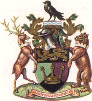 Metropolitan Borough of Lewisham - Arms granted in 1950