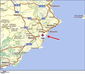 Dolores, Alicante - Image: Location Dolores