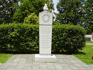 Marshall Thundering Herd football - The memorial at Spring Hill Cemetery in Huntington, West Virginia to the victims of the Southern Airways Flight 932 crash.