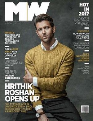 Man's World (magazine) - Hrithik Roshan on the January 2017 cover of Man's World