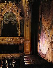 The original Tsar's Box of the Mariinsky Theatre was filming location for Anna Karenina and other movies