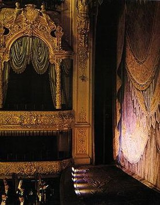 "Mariinsky Theatre - Although this box was not officially referred to as the ""Tsar's Box"", this box is where the Emperor and his family always sat when attending performances at the theatre."