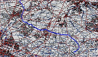 Millstone River - Map of southern section of Millstone River; see above for northern section