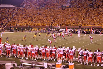 2007 Missouri Tigers football team - Chase Daniel takes a snap in the first quarter of the 2007 Mizzou vs. Nebraska football game. Missouri won the game on Saturday, October 6, 41–6