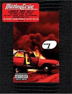 <i>Music to Crash Your Car to: Vol. 1</i> 2003 box set by Mötley Crüe