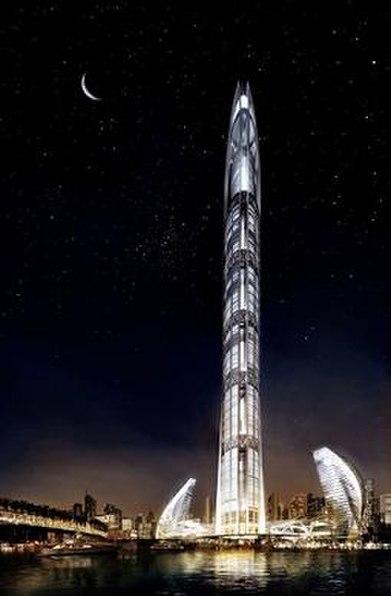 Torre Nakheel, una de las obras paralizadas