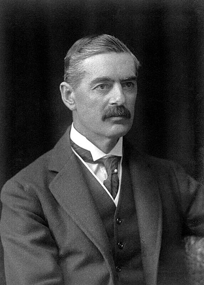Neville Chamberlain, former Prime Minister of the United Kingdom
