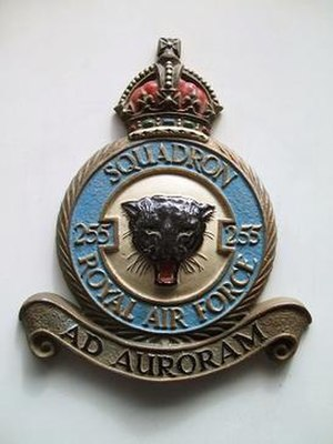 No. 255 Squadron RAF - Hand-painted metallic casting circa 1950, depicting the Squadron's official crest.