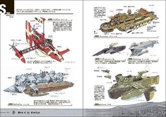 Nostalgia (video game) - Airship design sketches from the Japanese pre-order bonus artbook