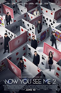 <i>Now You See Me 2</i> 2016 film directed by Jon M. Chu
