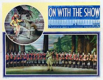 On with the Show! (1929 film) - Lobby card for On with the Show (1929)