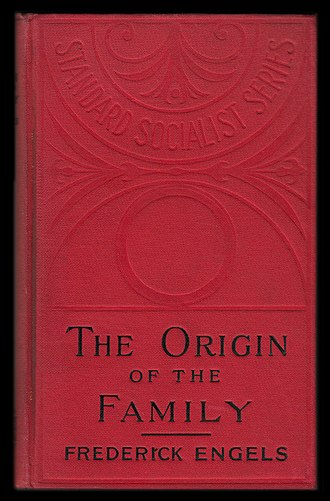 The Origin of the Family, Private Property and the State - Cover of the 1st English-language edition, published by Charles H. Kerr & Co. of Chicago in 1902.