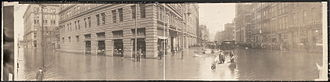 Floods in the United States: 1901–2000 - Image from 1907 flood in downtown Pittsburgh, Pennsylvania