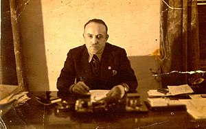 Qazim Mulleti - Qazim Mulleti in his office in Tirana