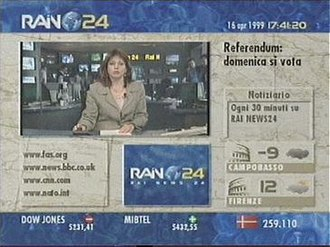 Rai News24 - RaiNews 24 screen capture, 1999