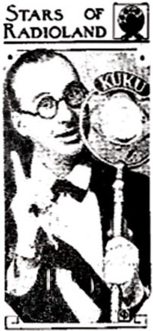 Raymond Knight (radio) - Raymond Knight broadcasting on The Cuckoo Hour in 1931.