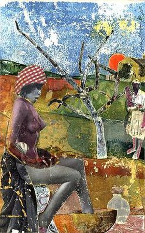 Romare Bearden - Romare Bearden, The Calabash, collage, 1970, Library of Congress