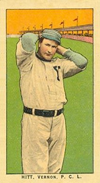 Roy Hitt - A baseball card depicting Hitt