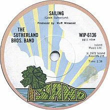 Sailing by The Sutherland Brothers Band UK vinyl single A-side.jpg