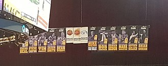 Sydney Kings - Wall of Legends banners, hung in the rafters of Qudos Bank Arena as of January 13, 2018