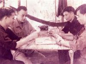 Battle of Binh Gia - Colonel Ta Minh Kham (second from left), commander of the Viet Cong 272nd Regiment, with other high-ranking Viet Cong officers