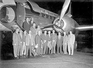 Tallahassee International Airport - Mayor Joe Cordell and the City Commission photographed at the new Tallahassee Municipal Airport on March 28, 1961.