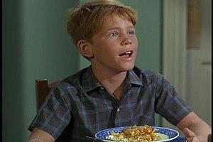Opie Taylor - Teen Opie eats his breakfast cereal in a color episode.