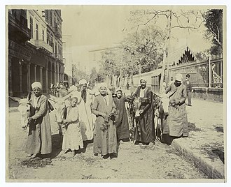 Egyptians - Egyptian donkey herders at the start of the British occupation of Egypt, circa 1860s.