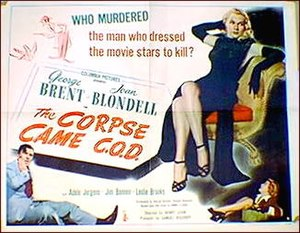 "The Corpse Came C.O.D. - ""The Bride Came C.O.D."" poster"