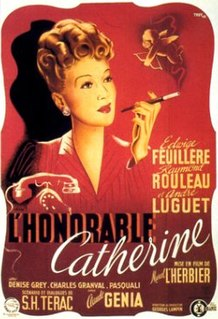 <i>The Honourable Catherine</i> 1943 film directed by Marcel LHerbier