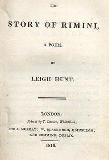 <i>The Story of Rimini</i> poem