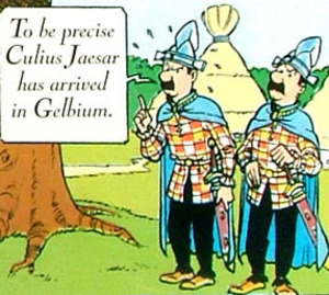 Asterix in Belgium - Thomson and Thompson appear in Asterix in Belgium