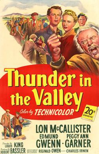 Thunder in the Valley (film) - Theatrical release poster